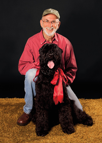 Jeff Zablow and his dog, Petra photographed by Jenny Jean Photography