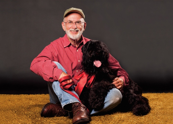 Jeff Zablow and his dog, Petra, photographed by Jenny Jean Photography.