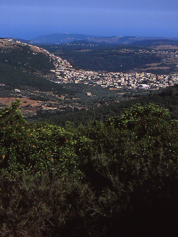 View of Lebanon from Mt. Meron, Israel photographed by Jeffrey Zablow