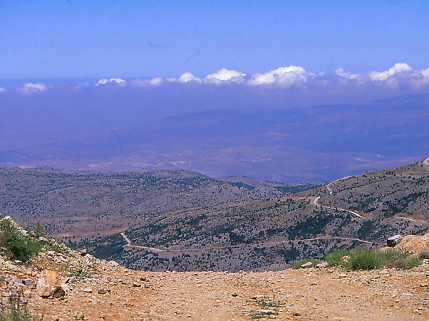 View from Mt. Hermon, Israel photographed by Jeff Zablow, 6/16/08