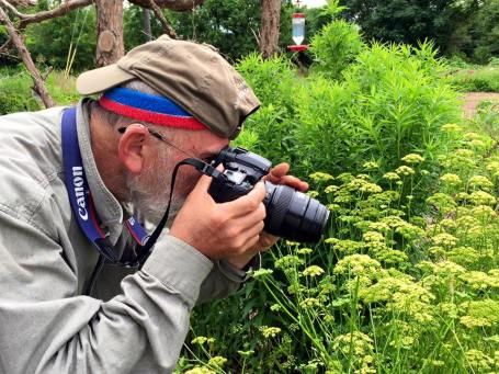 Jeff photographing Georgia's Butterflies and Blooms in the Briar Patch