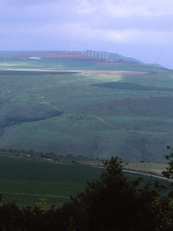 Golan Heights Seen from Belvoir Mountain National  Park, photographed by Jeff Zablow at Golan Heights, Israel