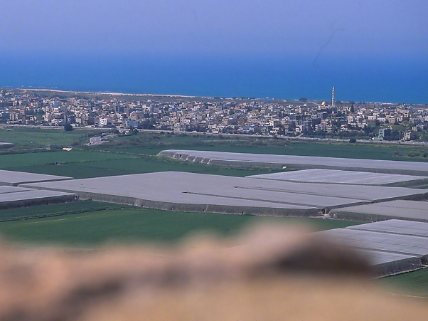 View from Ramat Hanadiv to Mediterranean Sea, photographed by Jeff Zablow at Coastal Plain, Israel