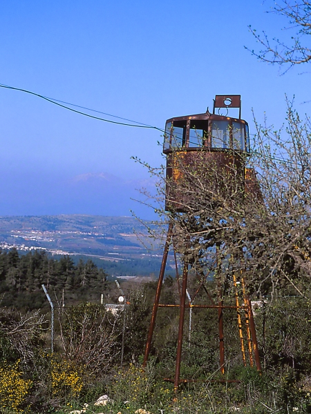 1948 Guard Tower, photographed by Jeff Zablow at Mt. Meron, Upper Galilee, Israel
