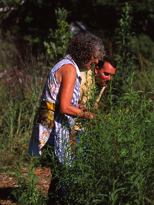 James Murdock and Virginia Linch photographed by Jeff Zablow at Butterflies and Blooms in the Briar Patch Habitat, GA