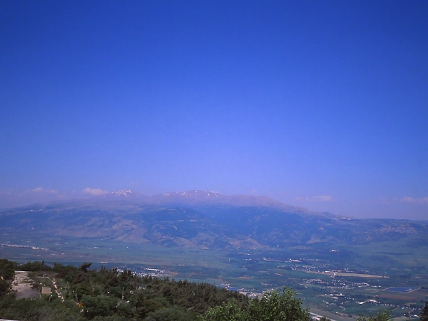 Mt. Hermon Seen from Menroh photographed by Jeff Zablow at Menroh, Israel