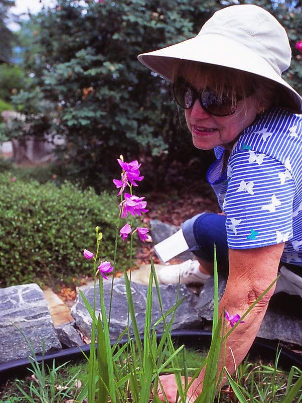 Sylbie Yon with Blooms photographed by Jeff Zablow at Lockerly Botanical Gardens, Millidgeville, Georgia