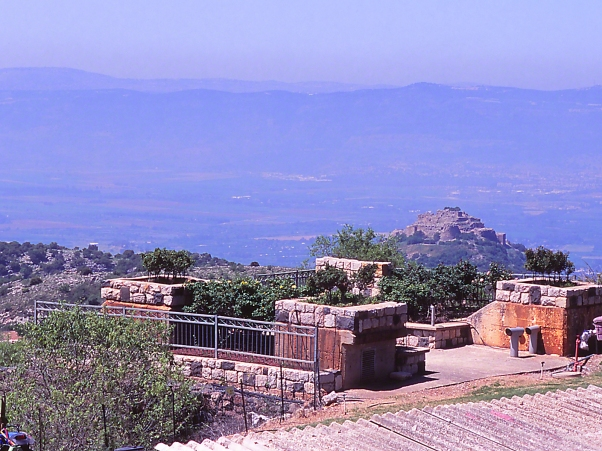 View From Neve Ativ SW To Nimrod's Fortress photographed by Jeff Zablow at Neve Ativ, Israel