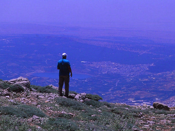 Eran Banker photographed by Jeff Zablow at Mt. Hermon Peak, Israel